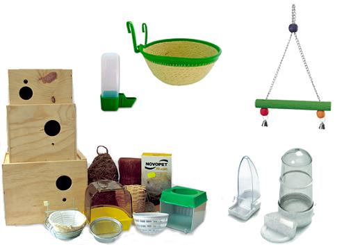 accesorios para jaulas de inseparables